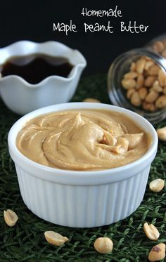 Homemade Maple Peanut Butter ~ http://veganinthefreezer.com