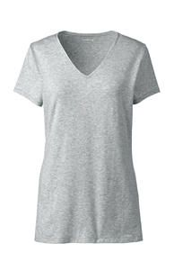 Grey Core Piece - Spring/Summer.  Women's Shaped Layering V-neck Tee