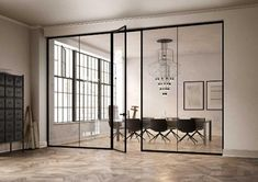We offer high-quality swift glass room service in Dubai UAE to make your rooms or office space most unique space of the world with stunning design look. Glass Office Partitions, Glass Partition, Partition Walls, Loft Office, Office Walls, Office Glass Wall, Office Interior Design, Office Interiors, Movable Walls