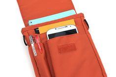 Lihit Lab Smart Fit Carrying Pouch - A6 - Orange - LIHIT LAB A-7574-4 Pen case