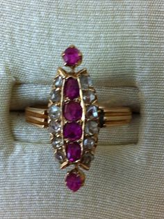 Beginning of 1900 for this ruby and diamonds ring