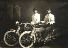 1914 Harley Davidson -William Harley and Arthur Davidson, two of the orig. founders in their early years, too cool!