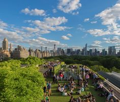 Best Rooftop Bars in NYC: Rooftop Garden and Martini Café at the Metropolitan Museum of Art New York Rooftop, Rooftop Bars Nyc, Rooftop Lounge, Garden Cafe, Rooftop Garden, Garden Oasis, Bar New York, Central Park, Empire State
