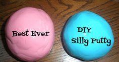 I came across this post on making your own silly putty and they had the same ingredients as we used to make Gakthe other day  except ...
