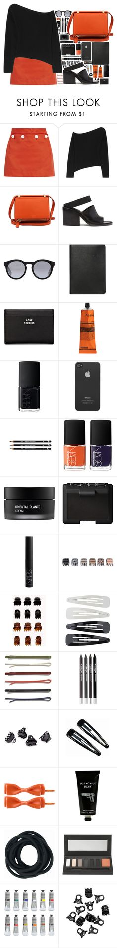 """""""Different Sense"""" by seoultotokyo ❤ liked on Polyvore featuring moda, Acne Studios, Alexander Wang, Givenchy, Helmut Lang, Illesteva, Graphic Image, Aesop, NARS Cosmetics y Incase"""