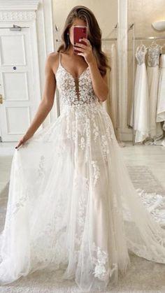 Top Wedding Dresses, Cute Wedding Dress, Applique Wedding Dress, Bohemian Wedding Dresses, Western Wedding Dresses, Gown Wedding, Cute Dresses For Weddings, Empire Wedding Dresses, Lace Wedding Shoes