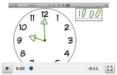 Telling time Assessment using an image from a shared Dropbox and the Educreations app: http://www.mrswideen.com/2012/11/more-ipad-math-stations.html