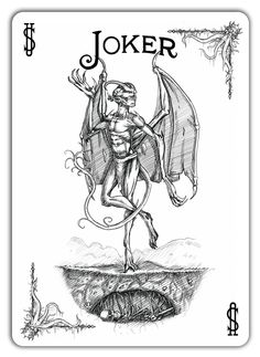 Joker from the Call of Cthulhu Bicycle deck.