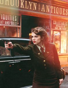 Peggy Carter played by Hayley Atwell in Captain America The First Avenger