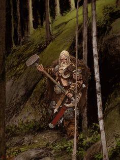 Bear Clan Warrior Art
