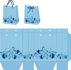 "Photo from album ""Своими руками"" on Yandex. Paper Gift Box, Diy Gift Box, Diy Box, Paper Gifts, Gift Boxes, Printable Box, Origami Box, Box Packaging, Box Design"