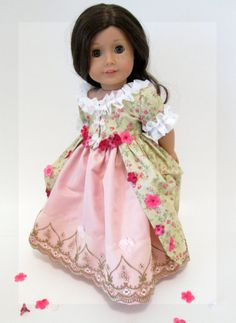 2 pc Colonial Gown Petticoat for American Girl by DollhouseDesigns, $74.00