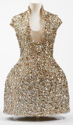 Alexander McQueen 'Bell Jar' dress, S/S 2009. Swarovski crystal & net.