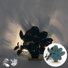 Country Table Lamp Blue and Grey - Silhouettes