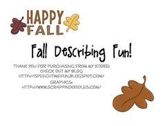 Fall Describing Fun!