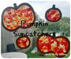 Le Baby Bakery: Pumpkin Sun Catcher Craft  Love this one. I just made my own and it came out super adorable.