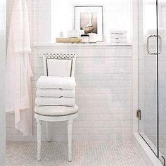 White Subway Tile Bathroom on White