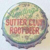 Keating's Sutter Club Root Beer, bottle cap | James P. Keating Company Inc., Sacramento, California USA Sacramento California, California Usa, Bottle Caps, Beer Bottle, Root Beer, Graphics, Club, Classic