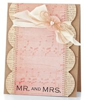 Musical Mr. & Mrs. Card by @Lucy Abrams - supplies and instructions included