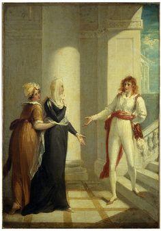 Maria, Olivia, Viola ~ Twelfth Night.....painting by William Hamilton - Victoria & Albert Museum