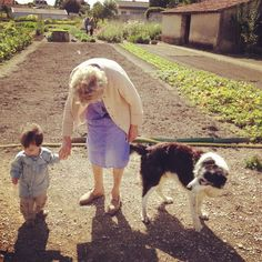 A Friday morning visit chez Madame Loichet.  Petit Luc was thrilled to play with Filou in the garden.