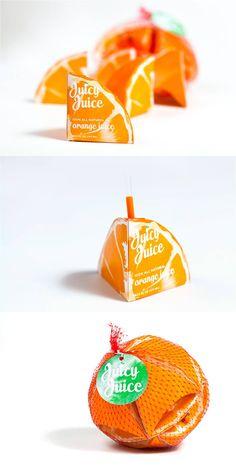 31 Mind-Blowing Examples of Brilliant Packaging Design Orange Juicy Juice Packaging Clever Packaging, Innovative Packaging, Juice Packaging, Pretty Packaging, Brand Packaging, Design Packaging, Coffee Packaging, Bottle Packaging, Product Packaging