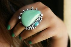 The Perfect Shore  Variscite and Turquoise by MercuryOrchid, $218.00
