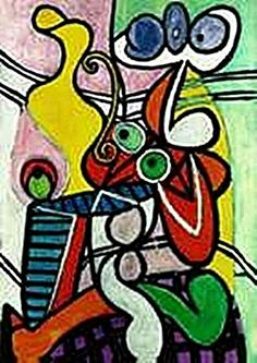 Large still life on a pedestal table-Collection Domaine Picasso