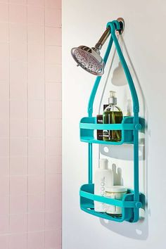 Be more organized!  Love the teal.  Preston Flex Shower Caddy.  #affiliate