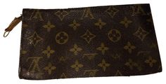 Cosmetic Pouch Brown Monogram Clutch – Bagriculture
