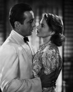 Humphrey Bogart and Ingrid Bergman as Rick & Ilsa from Casablanca (1942)