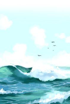 """Siren's Lament,"" a webcomic by InstantMiso on Line Webtoons.   #beach #comics #webcomics #webtoons"
