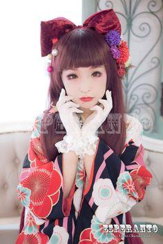 レトロモダン着物 #kimono #Japan