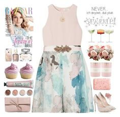 """Sparkle"" by doga1 ❤ liked on Polyvore featuring SemSem, Reiss, Oscar de la Renta, Casadei, Mixit, LSA International, LULUS, Terre Mère, W3LL People and Casetify"