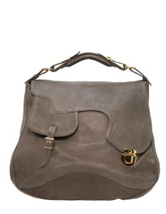 Large gray hobo bag by Le Bulga d293092d39600