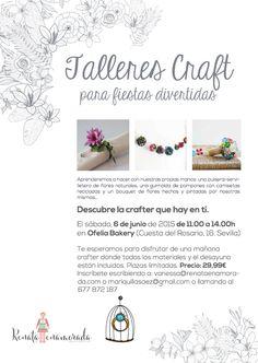 Talleres craft para fiestas divertidas. Talleres de manualidades en Sevilla.