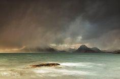 Dramatic weather at Elgol, Isle of Skye.