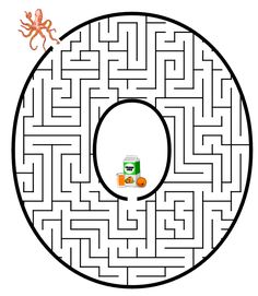 Free Printable Maze of the letter O