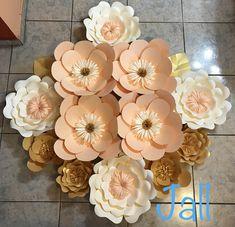 Hermosas flores de papel