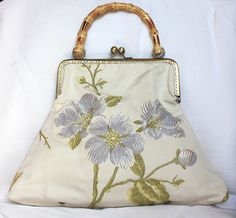 Retro Handbag bamboo damask wedding frame bag