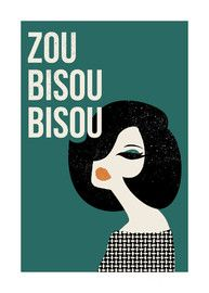 Zou Bisou Bisou illustration. That song is engrained in my mind for life. #MadMen