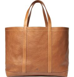 Tan leather Mulberry Calder Tote bag with contrast stitch details.