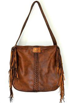 NAVAJO. Fringe leather shoulder bag / tote bag. Available in different leather colors.. $180.00, via Etsy.