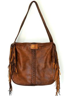 NAVAJO. Fringe leather shoulder bag / tote bag. Available in different leather colors.. $180.00, via Etsy.