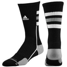 adidas Team Speed Crew Sock - Men's - Basketball - Accessories - Black/Aluminum/White/Electricity