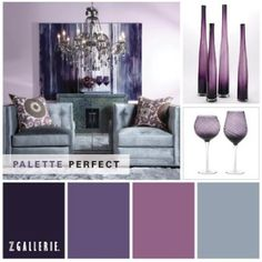 Purple is so perfect for Fall!    Purple Palette   by Z Gallerie