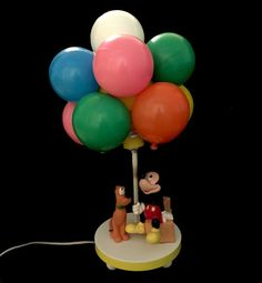 Vintage Mickey Mouse and Pluto Balloon Lamp by TTLGFurnishings