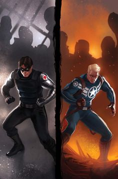 Winter Soldier, Captain America by Marko Djurdjevic