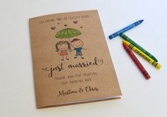 ** Personalized Kids Wedding activity books with crayons **  You can choose the numbers of books with crayons from the drop down menu on the