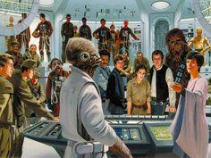Original High resolution Star Wars concept art by Ralph McQuarrie Ralph Mcquarrie, Star Wars Poster, Star Wars Art, Star Trek, Star Wars Concept Art, Star Wars Images, Star Wars Episodes, Illustrations, Creations